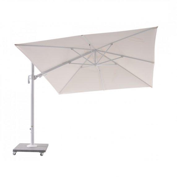 palermo parasol i hvid med granitfod