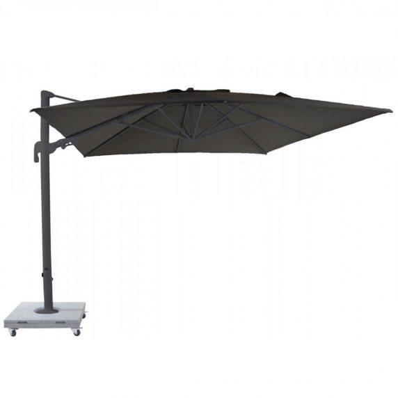Lava carbon parasol med granitfod