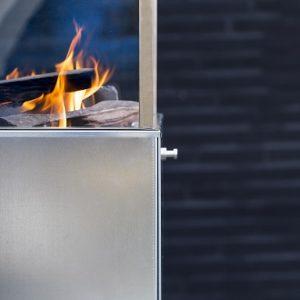 gaspejs høj blank zink danskproduceret terrassevarmer