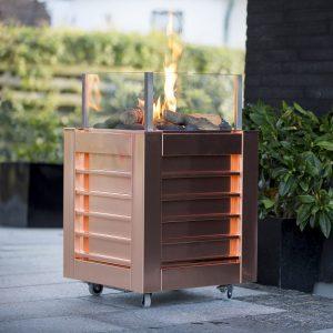 gaspejs i kobber lav danskproduceret terrassevarmer