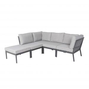 Rinella loungesett i antrasitt grå