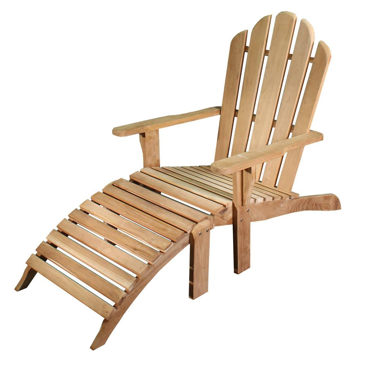 Adirondack stol med skammel i teak 15004
