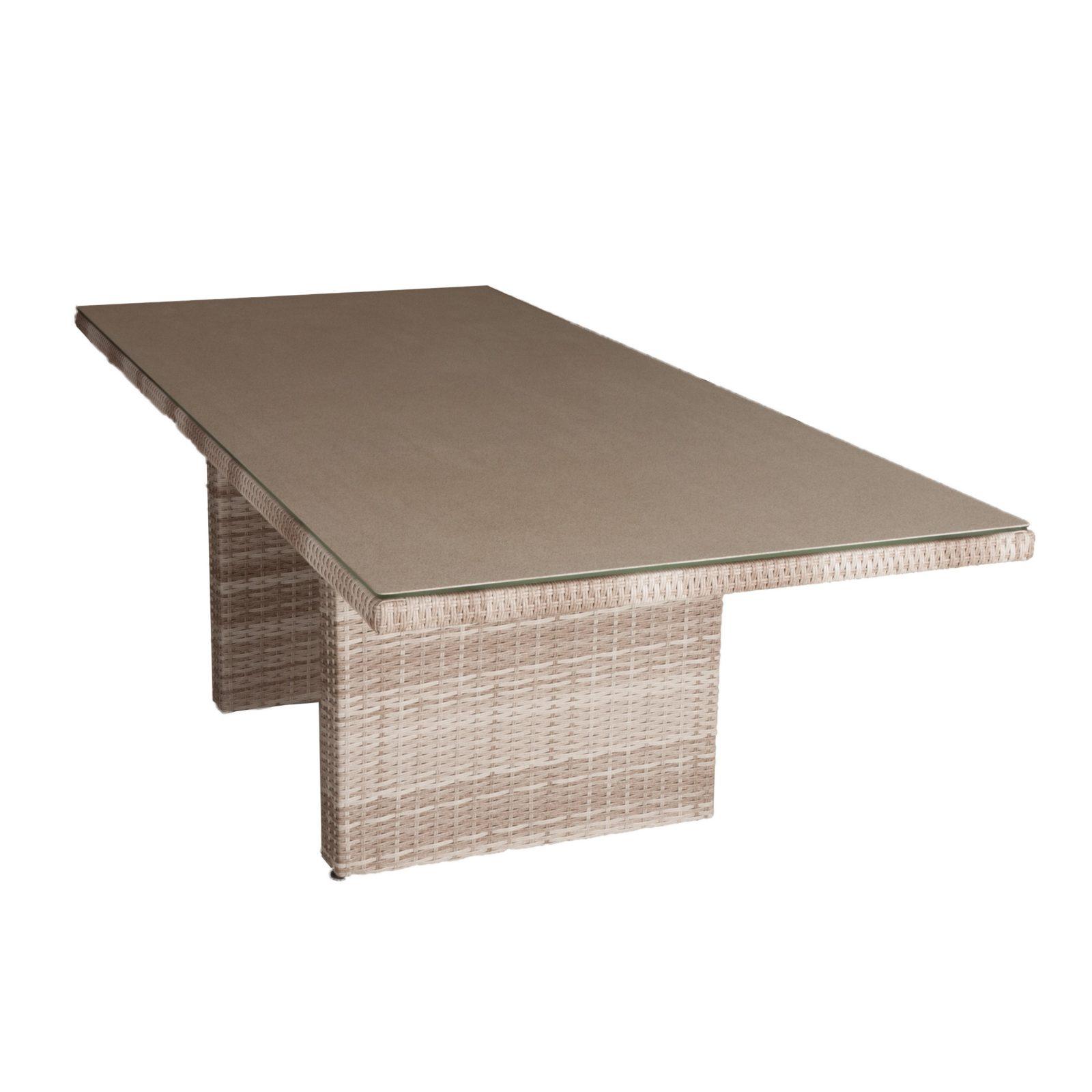 Kansas spisebord 220x100 med spraystone bordplade 21298