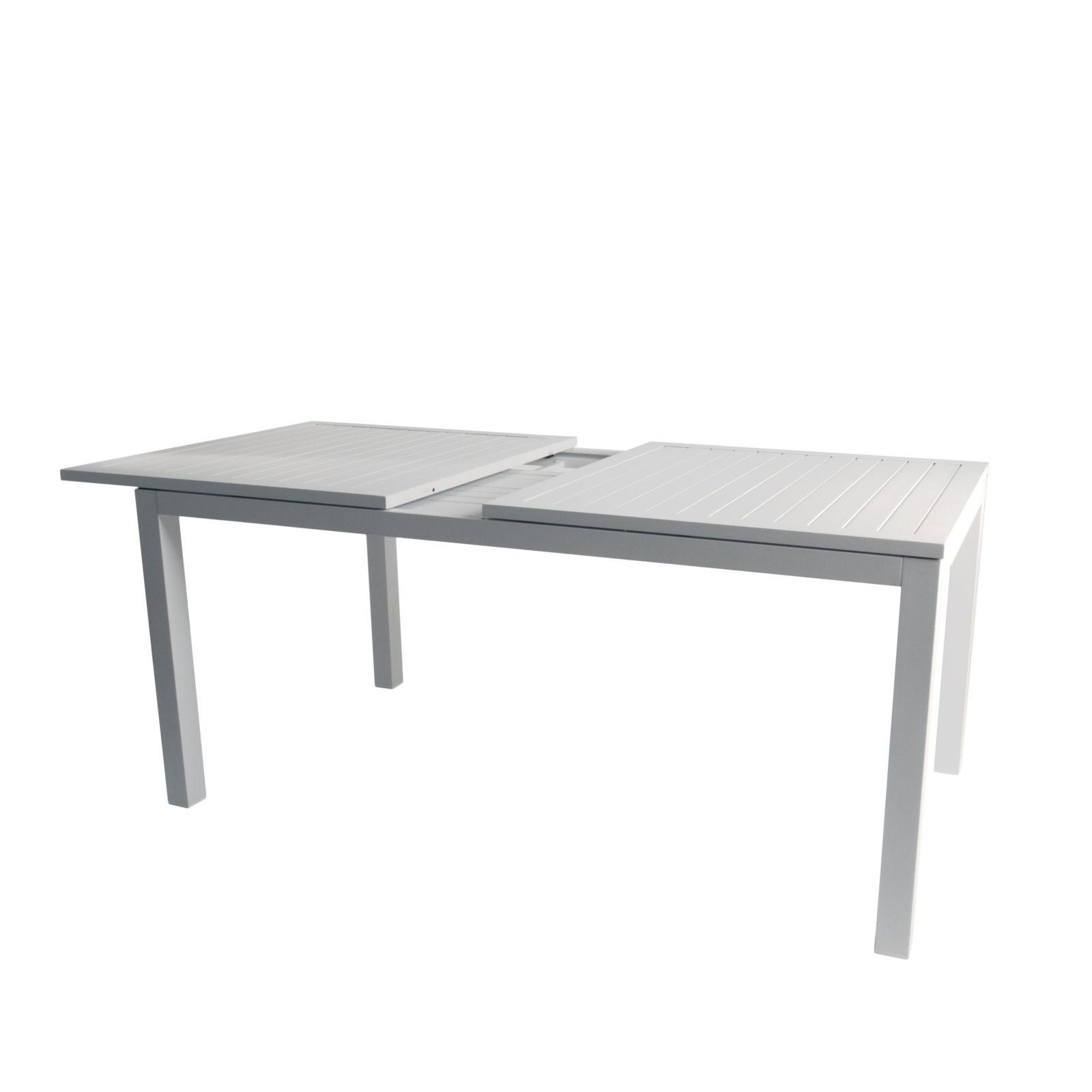 Lafayette spisebord - uttrekksbord i hvit