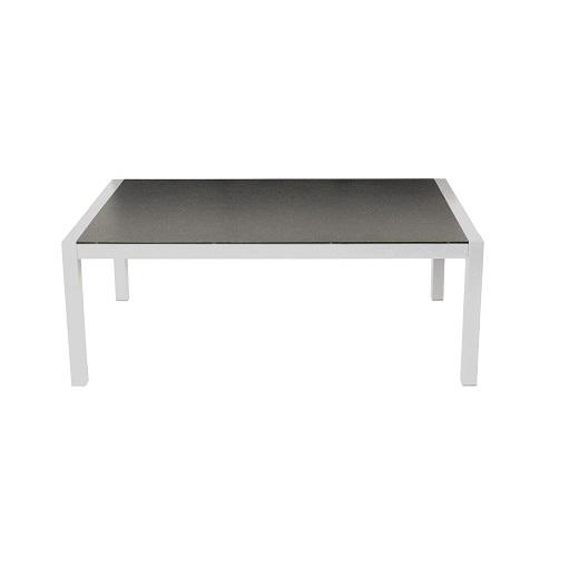 Salina loungebord spraystone hvid aluminium 140x85x53 cm21274