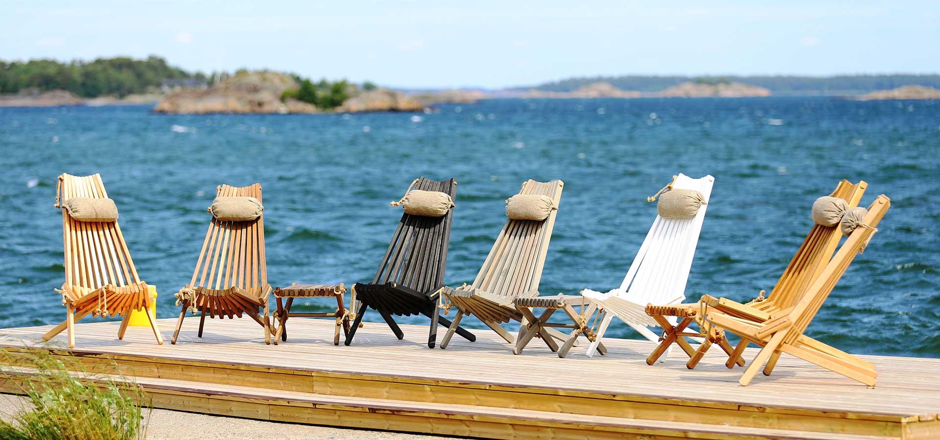 Ecofurn loungestol og skammel miljøvenlige havemøbler kvalitet lapatio.no Holstebro