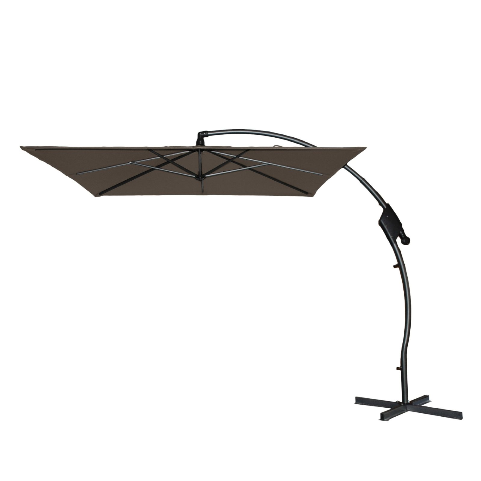Hartman Tenero parasol 250x250 cm, taupe dug, UPF50+