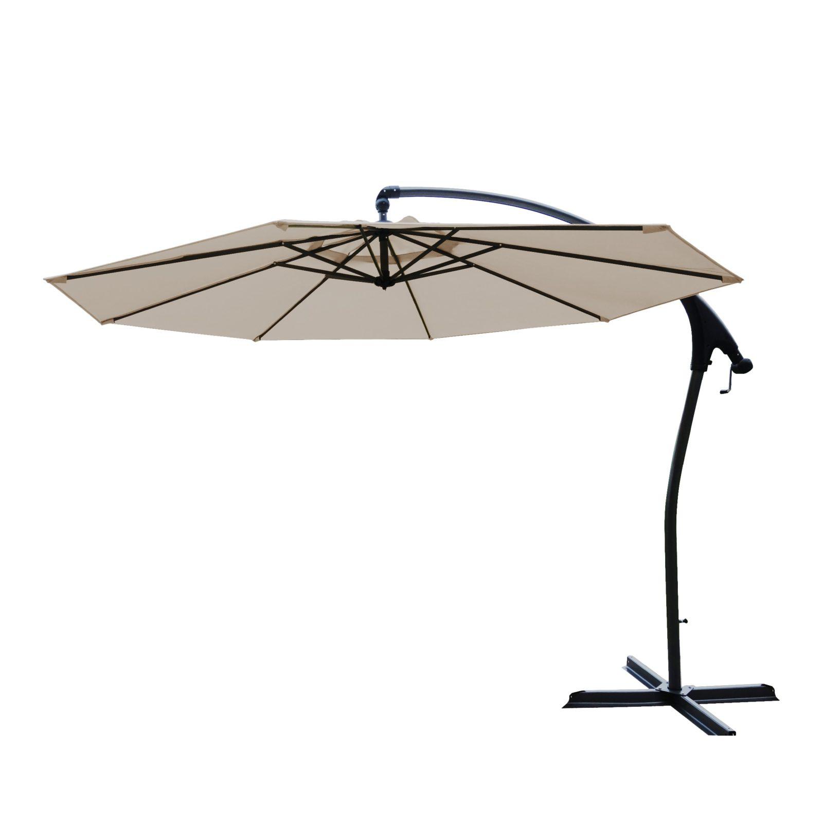 Hartman Tenero parasol 300 cm, beige, taupe dug, UPF50+