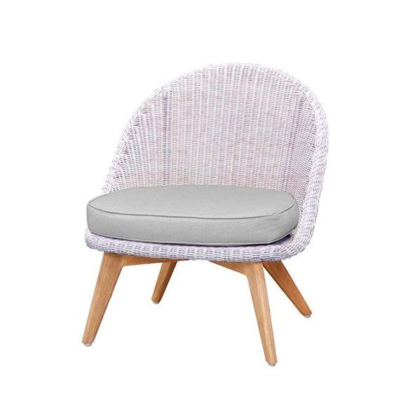 Apple Bee Fleur loungestol i hvit