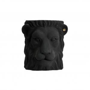 Garden Glory Lion Pot Black - Large