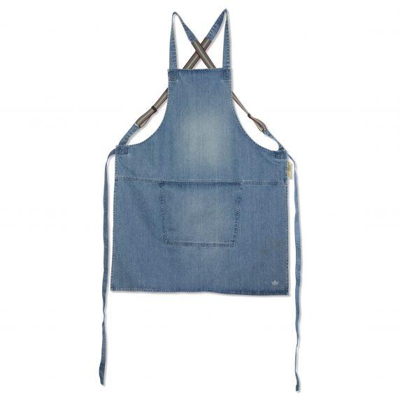 Baristaforkle med bukseseler DutchDeluxes blue denim