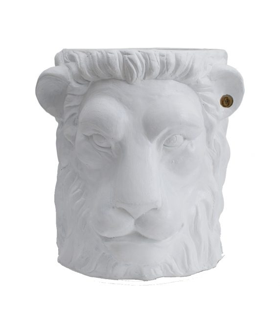 Garden Glory Lion Pot White
