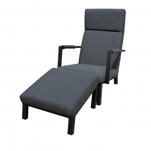 Icarus lounge hvilestol med fotskammel