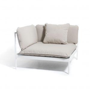 Bönan lounge hjørnestol hvit